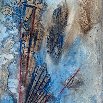 Ingrid Studer Fineart | Abstrakte Malerei | Blaue Wüste