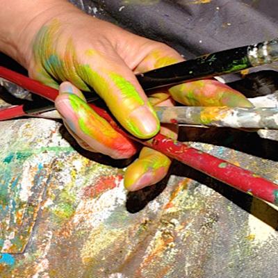 Ingrid Studer Fineart | Kreativ-Tag | Pinsel