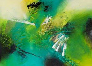 Ingrid Studer Fineart | Abstrakte Malerei | Big Green